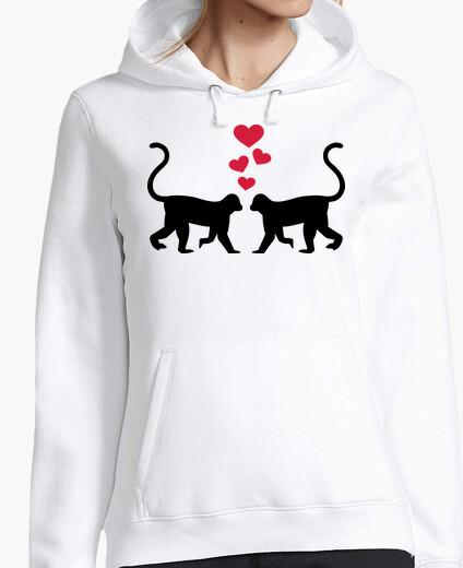 Jersey mono corazones rojos amor