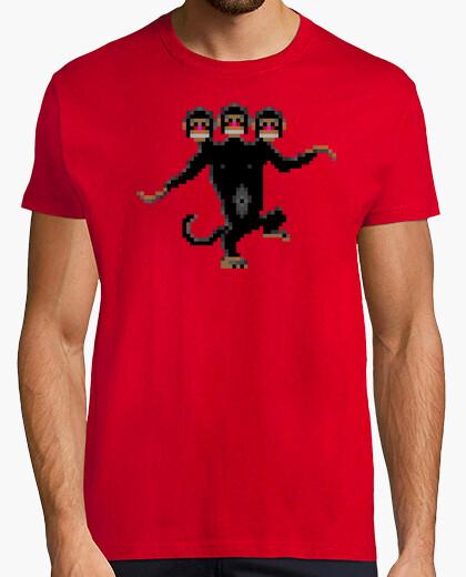 Camiseta Mono de tres cabezas