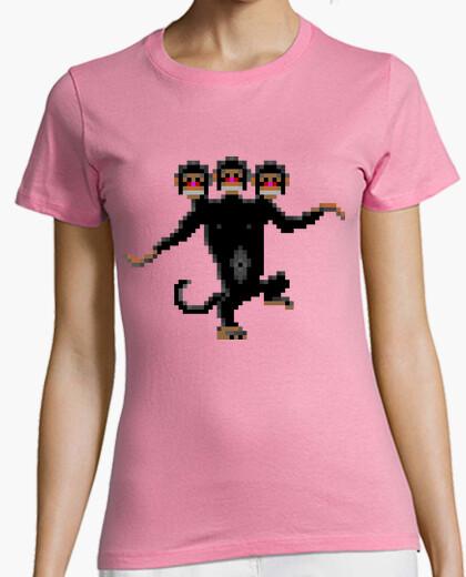 Camiseta Mono de tres cabezas (MUJER)