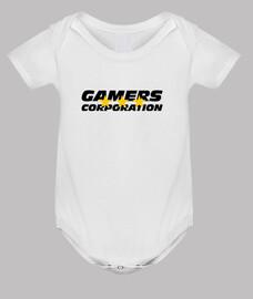 mono del bebé, blanco friki / juegos.
