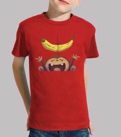 Mono y plátano - camiseta niño