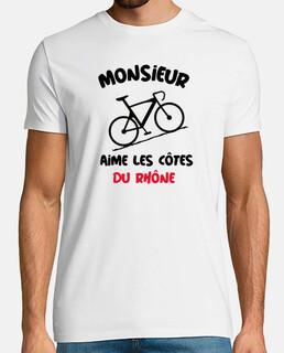 Monsieur aime côtes Rhône vélo humour