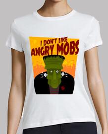 monstre frankenstein foules drôles et en colère