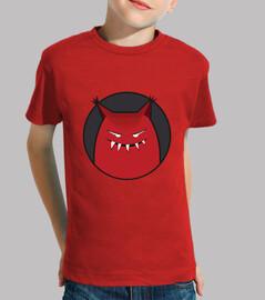 monstruo malvado sonriente con orejas puntiagudas niños camiseta