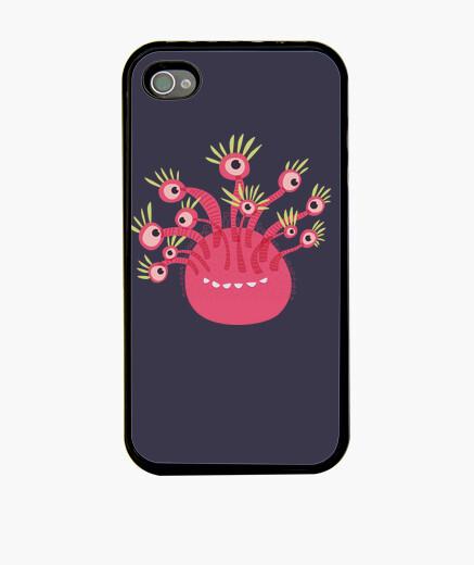 Funda iPhone monstruo rosado divertido de once ojos