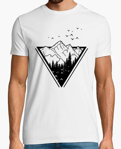 T-shirt montagne hipster