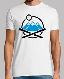 montagnes de ski croisés