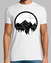 montagnes minimalistes