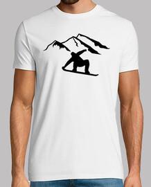 montagnes snowboard