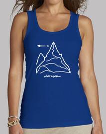 Montaña Mujer, sin mangas, azul royal
