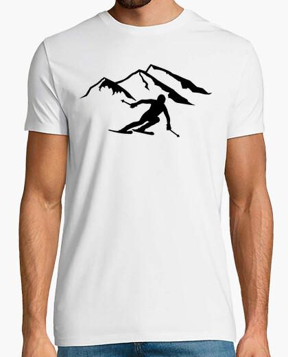 Camiseta montañas de esquí alpino