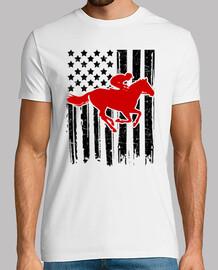 monter le drapeau du cheval