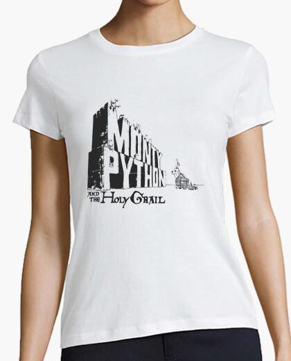 Camiseta monty python caballeros mesa cuadrada (blanca/chic