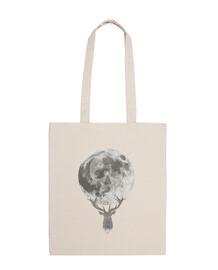 Moon and deer (gray) B
