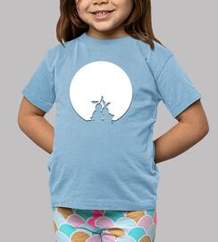 Moon Love rabbits  shadow