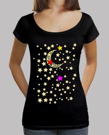 moon tricolore et les étoiles