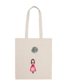 MoonWanter Tote Bag 100 cotone