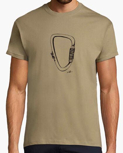 Camiseta mosquetón de escalada