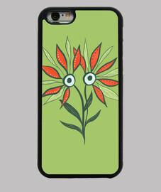 mostro di fiori carino divertente