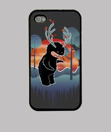 mostro di foresta simpatico con corna e animali-moda iphone4