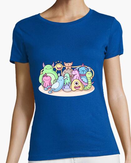 T-shirt mostruosa foto di famiglia