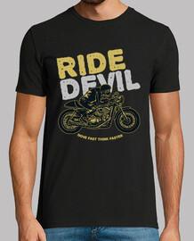 motard ride diable rétro moto vintage t-shirt