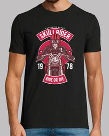 motards chemise vintage rétro skull moteur