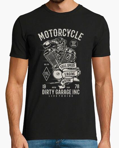 Tee-shirt moteur de moto pleine vitesse