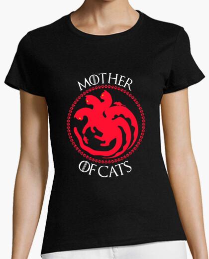 Camiseta Mother Of Cats. Divertida Parodia Casa Targaryen