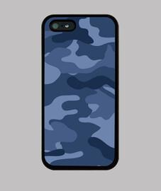 Motif camouflage bleu