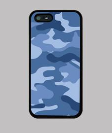 Motif camouflage bleu clair