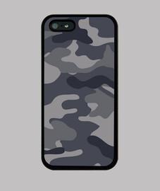 Motif camouflage bleu gris