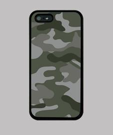 Motif camouflage gris vert