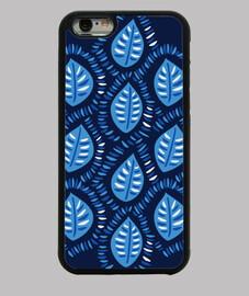 motif de feuilles bleu très décoratif