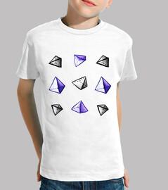 motif de pyramide aquarelle géométrique