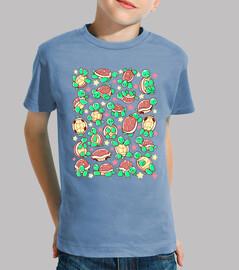 motif tortue adorable chemise enfants