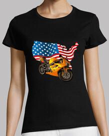 Moto con bandera americana estados unid