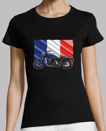 moto con bandera francesa