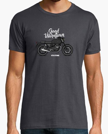 Moto guzzi v7ii stone black t-shirt