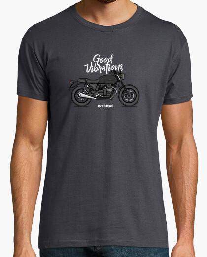 Tee-shirt Moto Guzzi v7ii stone noire