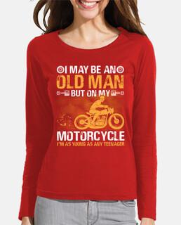 motocicleta anciano abuelo motociclista