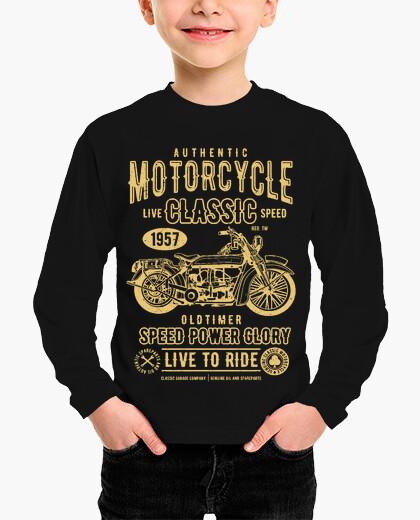 Ropa infantil motocicleta clásica