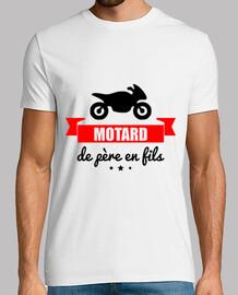 motociclista da padre in figlio
