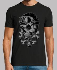 motociclista del cranio