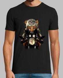 motociclista di volpe