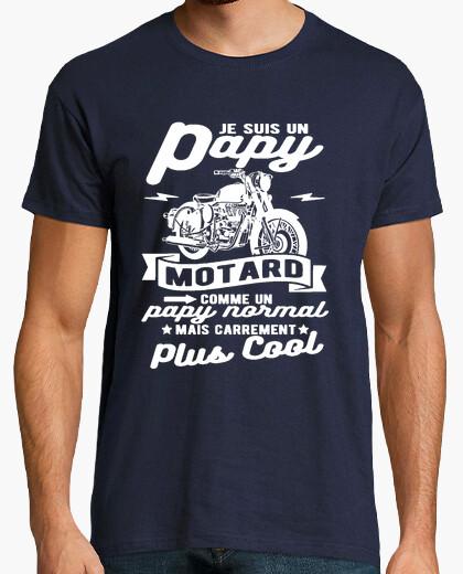 T-shirt motociclista nonno