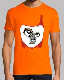 Motocros, enduro, mx, moto, careta, logo, camiseta, máxima calidad