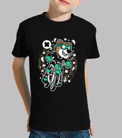 motocross divertente dell'orso della t-shirt cartoni animati