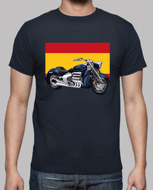 motorbike with flag of spain