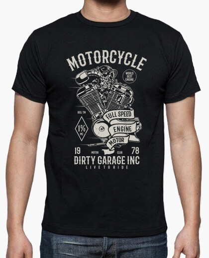 Motorcycle full speed engine t-shirt